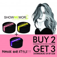 FLASH SALE!! Buy 2 Get 3 SHOWMEMORE ART DECO MUD + SHOWMEMORE SPARKLIN WAX + SHOWMEMORE OH MY GUM