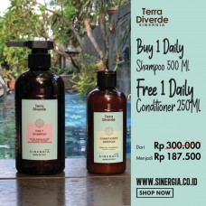 Buy 1 Free 1! Daily Shampoo 500 ML + Daily Conditioner 250 ML